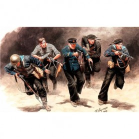 "Master Box 35153 Figurer Soviet Marins, Attack, 1941-1942 ""Eastern Front Battle Series"""