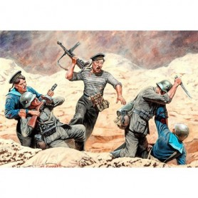 Master Box 35152 Figurer Soviet Marins and German Infantry, Hand-to-hand Combat, 1941-42
