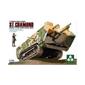 "Takom 2002 Tanks French Heavy Tank St.Chamond ""Iron Mask Man"""