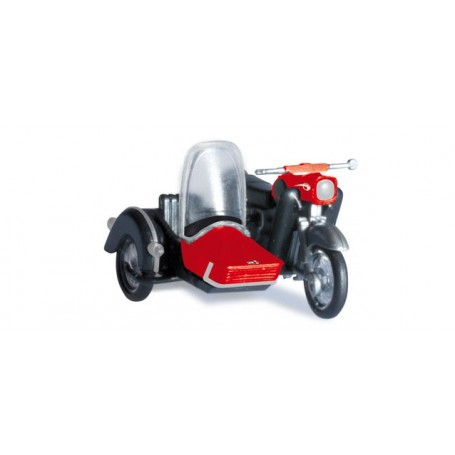 Herpa 053433 MZ 25 with matching sidecar