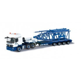 "Herpa 303422 Mercedes Benz Actros L semi low boy semitrailer with boom foot for Liebherr LR 1600/2"" Wasel Krane"""