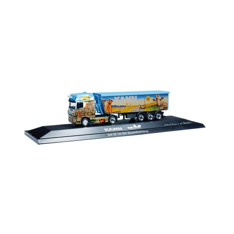 daf xf 105 ssc building materials semitrailer 39 mai logistik kann baustoffe 39 pc. Black Bedroom Furniture Sets. Home Design Ideas