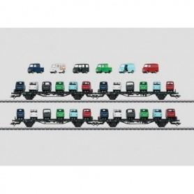 Märklin 45099 Vagnsset med 4 st biltransportvagnar typ DB