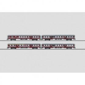 Märklin 43543 Vagnsser med 4 st personvagnar M2 typ SNCB/NMBS