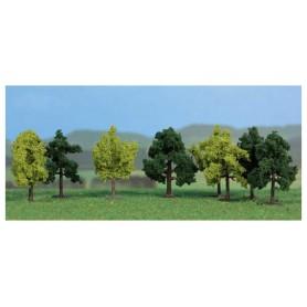 Heki 1140 Lövträd, 8 st, 4 cm höga