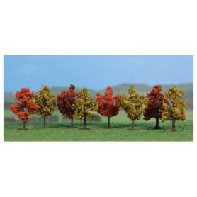 Heki 1141 Lövträd höst, 8 st, 4 cm höga