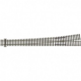 Tillig 85327 Växel EW5, manuell, vänster, längd 361 mm, 9,4°, med hjärtstycke i metall