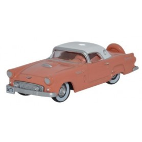 "Oxford Models 107267 Ford Thunderbird 1956 ""Sunset Coral / Colonial White"""