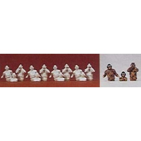 Preiser 16531 Personal för tanks, 12 omålade figurer