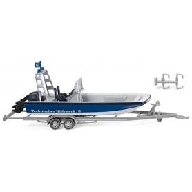 Wiking 09546 THW - multi-purpose boat MZB 72 (Lehmar)