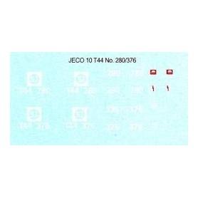 Jeco 12-443 Komplett dekalark för T44 280/376 SJ