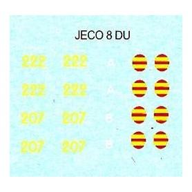 Jeco 12-444 Komplett dekalark för D 207/222
