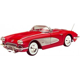 Motormax 73109 Chevrolet Corvette 1958, röd