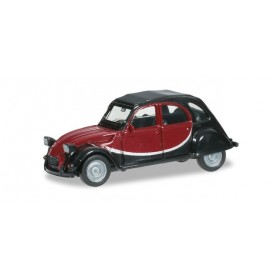 Herpa 020817.2 Citroen 2 CV Charleston, black/wine red