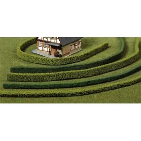 Heki 1186 Häckar, flexibla, 3 st, ljusgröna, längd 50 cm, höjd 14 mm