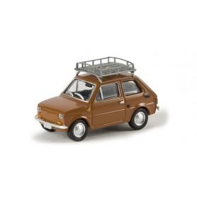 "Brekina 22361 Fiat 126 med takräcke, brun ""Von Drummer"""