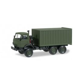 Herpa 744935 Kamaz 5320 box trailer