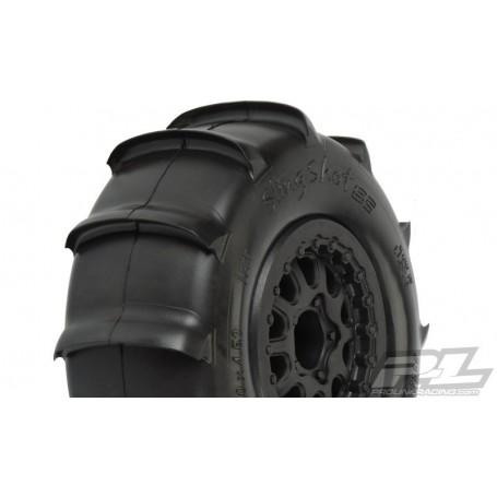 "Pro-Line 1158.17 Sling Shot SC 2.2""/3.0"" Tires Mounted for Slash Rear, Slash 4x4 and Blitz* Front or Rear. Mounted on Renegad..."