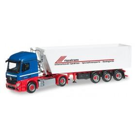 """Herpa 304122 Mercedes Benz Actros Streamspace Stöffel-liner truck semitrailer """"Riwatrans"""""""