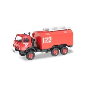 """Herpa 744966 Kamaz 5320 box truck """"Feuerwehr"""""""