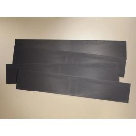 Auhagen 41631 Skiffertakplattor, 4 st, mått 255 x 45 mm