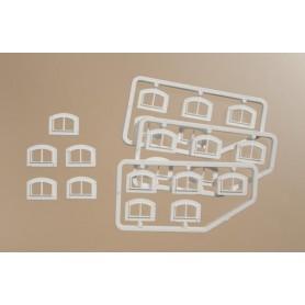 Auhagen 80214 Fönster, vita, 20 st, mått 12 x 8 mm