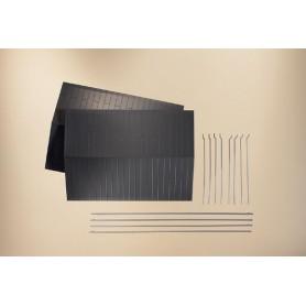Auhagen 80305 Metalltak med stuprör, 2 st, mått 154 x 110 mm
