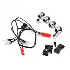 Traxxas 6784 Belysningssats för Stampede 4x4, LED lampor, 4 st klara med kablage, 1 set
