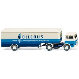 "Wiking 51318 Bil & Trailer Mercedes Benz 1620 ""Mollerus"", 1963"