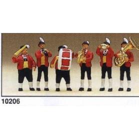 Preiser 10206 Tyrolerorkester, 6 st med instrument