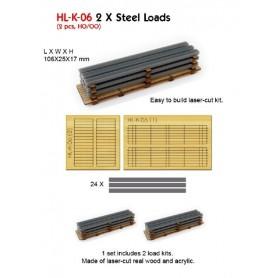 Proses HL-K-06 Vagnslast, stål, laserskuret trä