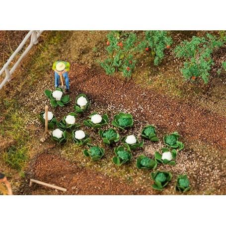 Faller 181257 Salladshuvuden och blomkol, 10 av varje,höjd cirka 5 mm