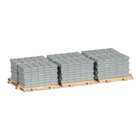 Herpa 053617 Accessories payload of sidewalk slabs on pallets ( 2 pieces )