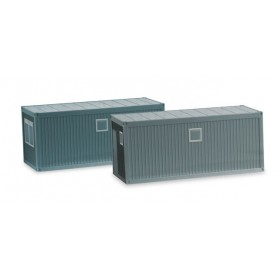 Herpa 053600 Accessories building site container, concrete gray (2 pieces)