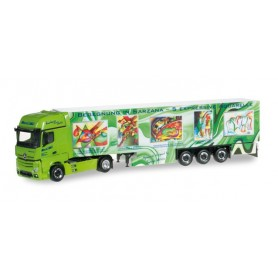 "Herpa 304276 Mercedes Benz Actros Gigaspace refrigerated box trailer ""Wirtz Art Truck"""