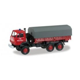 "herpa 745048 Kamaz 5320 canvas trailer ""Fire department"""