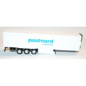 "AHM AH-344 Lamberet refrigerated box trailer 3 axle with palett box ""Postnord"""