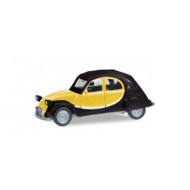 Herpa 020817.3 Citroen 2 CV Charleston, black/yellow