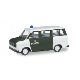 "Herpa 091794 Ford Transit Bus ""Police Department Hamburg"""