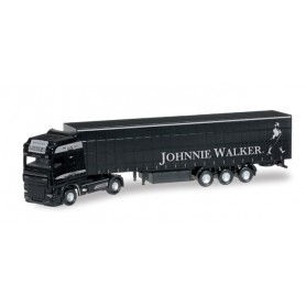 "Herpa 066341 DAF XF 105 SSC curtain canvas semitrailer ""Latzer Spedition / Johnny Walker"" (A)"