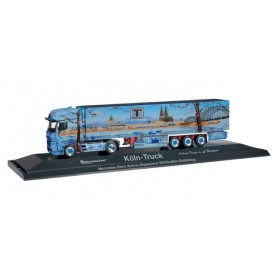 """Herpa 121613 Mercedes-Benz Actros Gigaspace refrigerated semitrailer """"Cologne Truck"""""""