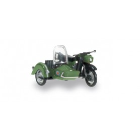 "Herpa 091787 MZ 25 with matching sidecar ""People Police"""