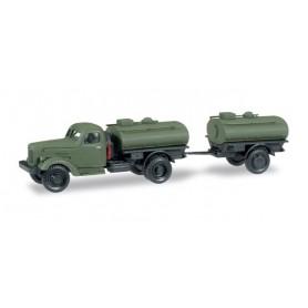 "Herpa 745109 ZIL 164 bulk truck with bulk trailer ""NVA"""