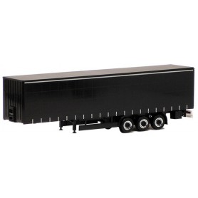 Herpa Exclusive 640354 Gardintrailer 3-axlig, svart med svart chassie