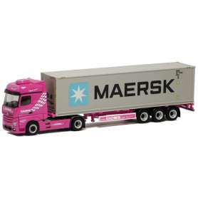 """Herpa 914901 MB Actros 40ft HighCube container """"Glomb"""" Maersk"""""""