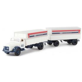 "Brekina 85605 Bil & Släp Volvo N88 ""Volvo Trucks Express Parts Delivery"""