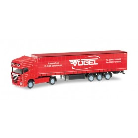 "Herpa 066389 Scania R TL curtain canvas semitrailer ""Vögel"" (A)"