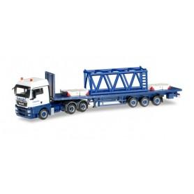 "Herpa 304696 MAN TGX XLX Euro 5 stake semitrailer with girder mast parts 6m ""Wasel Krane"""