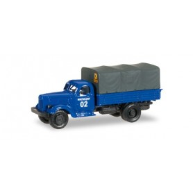 "Herpa 745222 ZIL 164 canvas truck ""Police department Ukraine"""