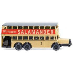 """Wiking 87304 Buss Berlin double-decker bus D 38 """"Salamander"""", 1938"""